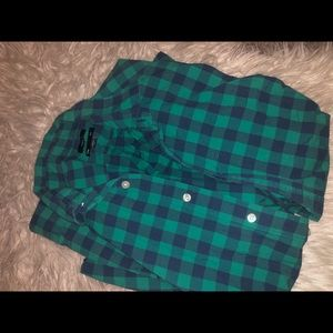 Blue / green plaid button up from Gap